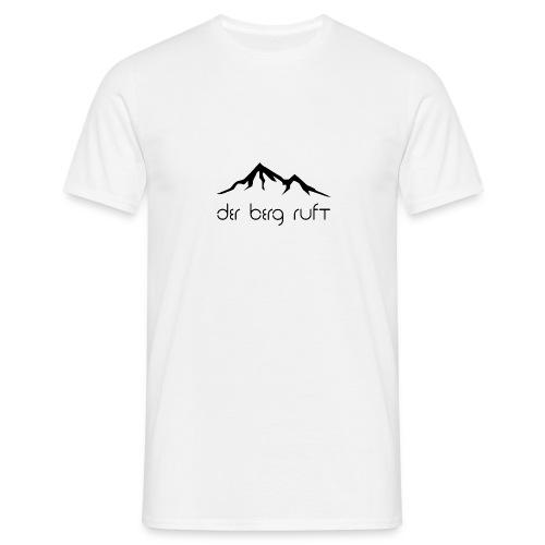 Der Berg ruft schwarz - Männer T-Shirt