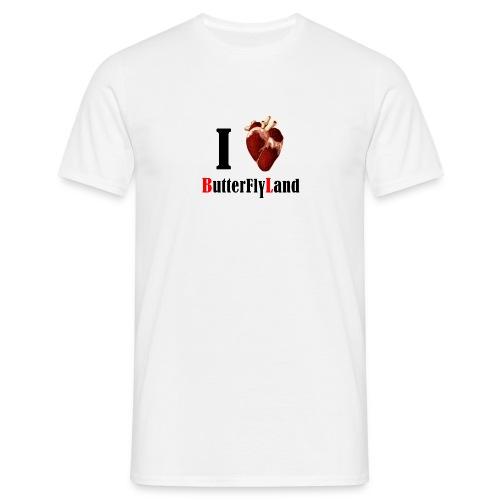 I love Butterflyland - T-shirt Homme