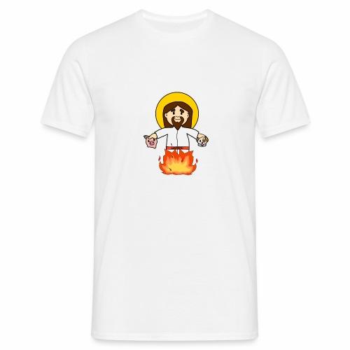 GesùOnFire - Maglietta da uomo