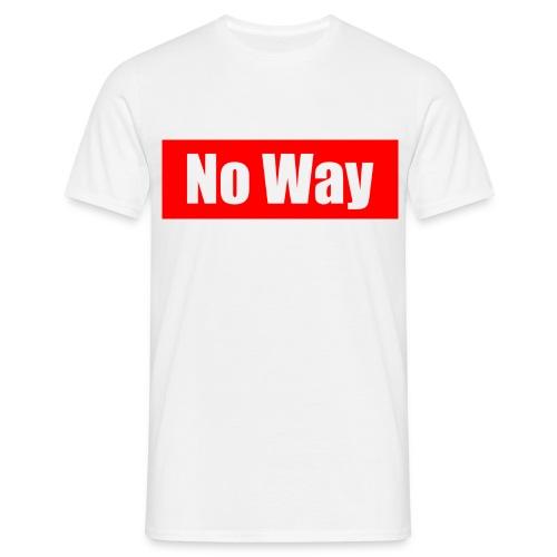 no way logo - T-shirt Homme