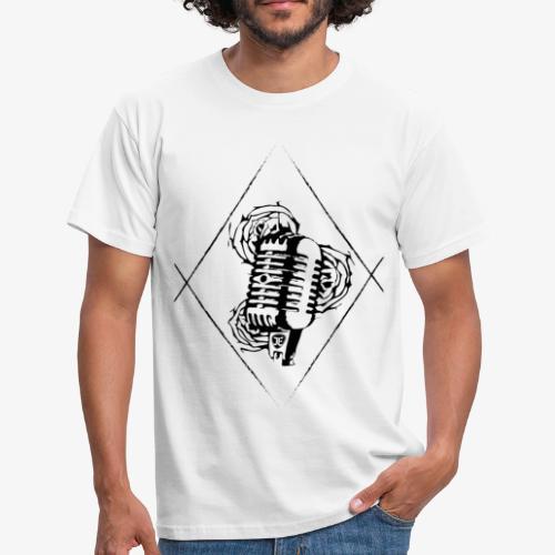 Microphone & Roses - Männer T-Shirt