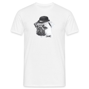 pug with bowler - Herre-T-shirt