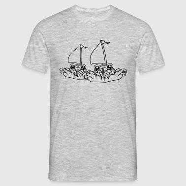 2 amigos equipo pareja cara lindo lindo vivo dibuj - Camiseta hombre