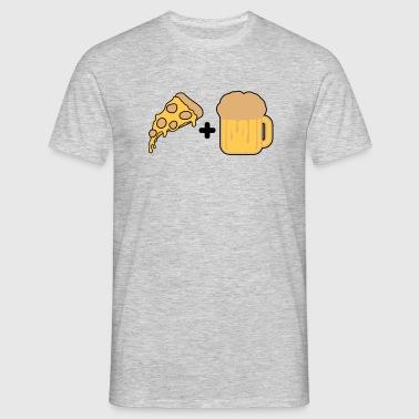 pizza comida hambre delicioso pareja pareja más am - Camiseta hombre