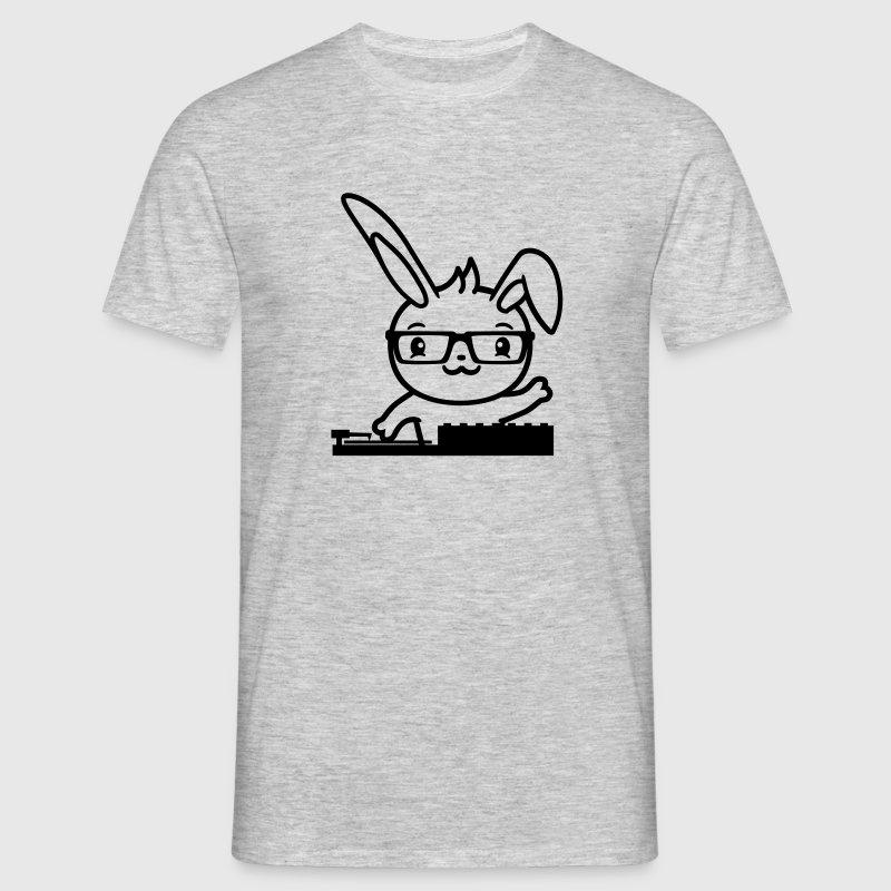 Cool nerd hornbrille dj party muziekclub disco ter - Mannen T-shirt