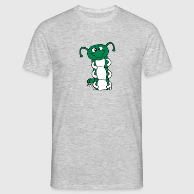 wurm aufrecht schnecke kriechen raupe schlange süß - Männer T-Shirt