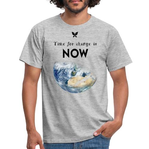 Time for change is now. (Earth Edition) - Männer T-Shirt