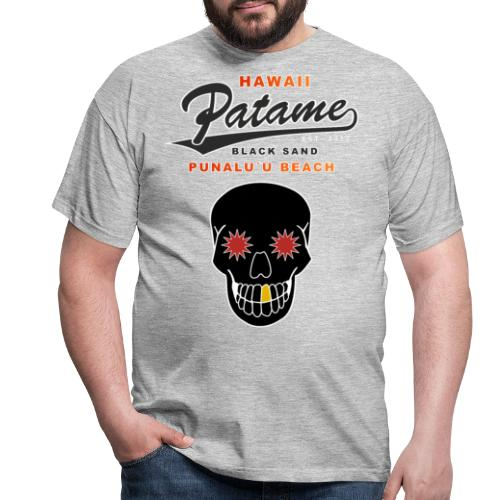 Patame Black Sand Beach with Skull - Männer T-Shirt