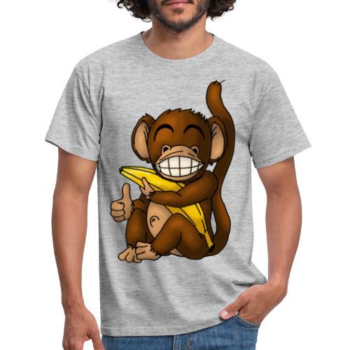Super Fröhlicher Affe - Männer T-Shirt