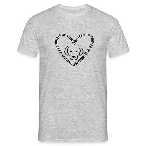 Hunde Liebe Klamotten - Männer T-Shirt