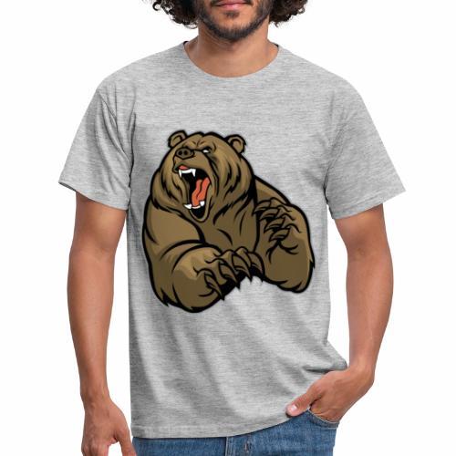 méchant grizzli - T-shirt Homme