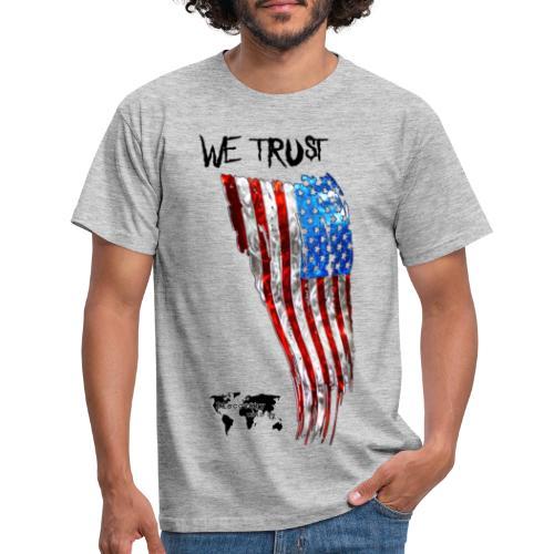 Bandiera USA We Trust - Maglietta da uomo