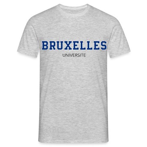 Bruxelles Université Bleu - T-shirt Homme