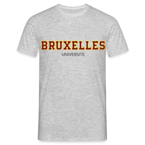 Bruxelles Université Rouge - T-shirt Homme