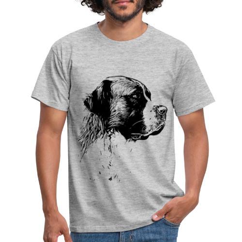 Bernhardiner Hunde Design Geschenkidee - Männer T-Shirt