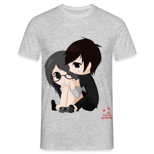 otaku anime pareja chibi kawaii - Camiseta hombre