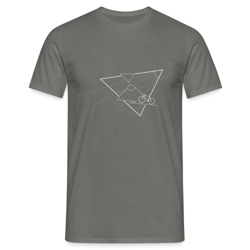 Cycling the mountains - Mannen T-shirt