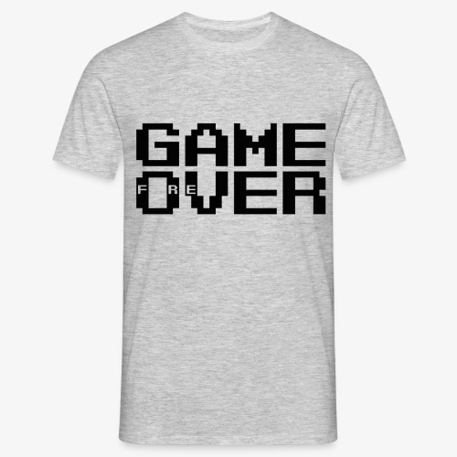 GAME fOreVER 2lines L FREtrans - Men's T-Shirt