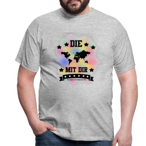 Die Welt mit dir bunt weiss - Klamottendesigns - Männer T-Shirt