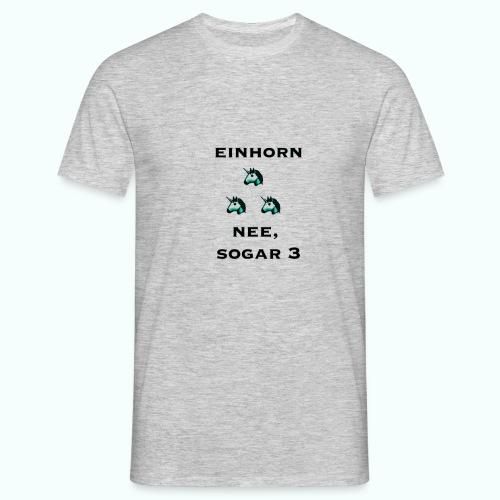 3xeinhorn - Männer T-Shirt