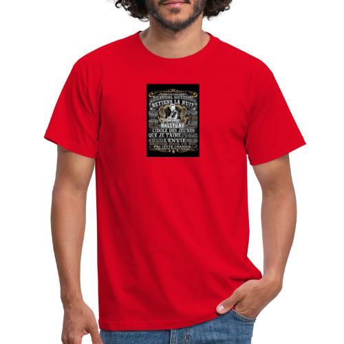 Johnny hallyday diamant peinture Superstar chanteu - T-shirt Homme