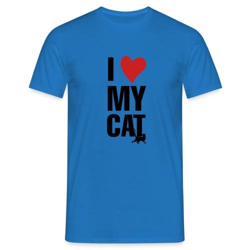 I_LOVE_MY_CAT-png - Camiseta hombre