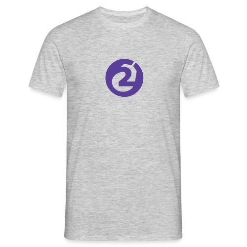 2Game Logo Purple - Men's T-Shirt