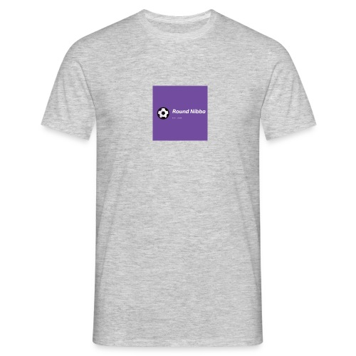 Purple with Ball Icon Soccer Logo - Herre-T-shirt