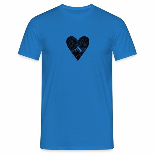 Bergliebe - used / vintage look - Männer T-Shirt