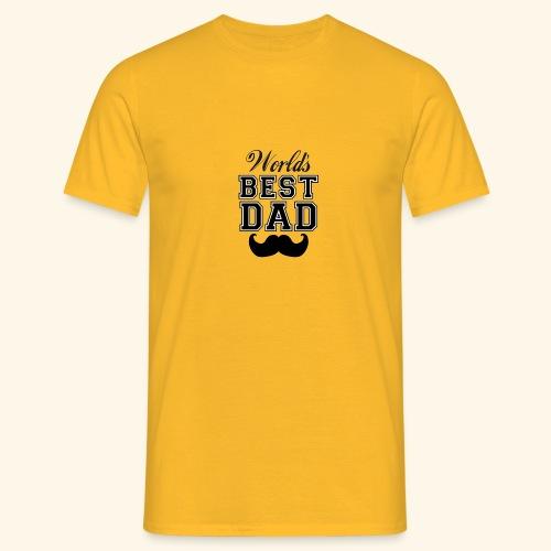 Worlds best dad - Herre-T-shirt