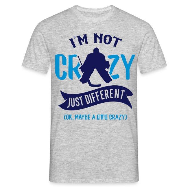 I'm Not Crazy, Funny Ice Hockey Goalie Design