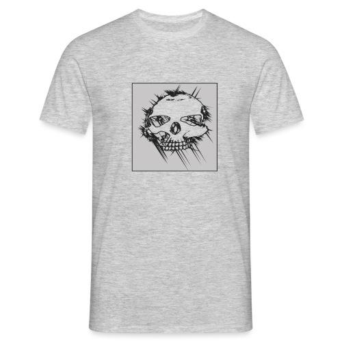 calavera gris - Camiseta hombre