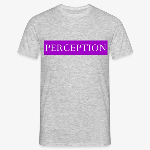 PERCEPTION CLOTHES VIOLET ET BLANC - T-shirt Homme