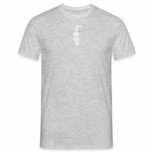 'logga' - white & silver print - T-shirt herr