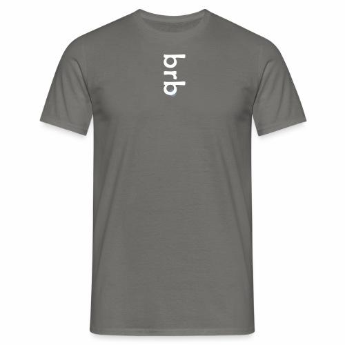 'brb' - white & silver print - T-shirt herr