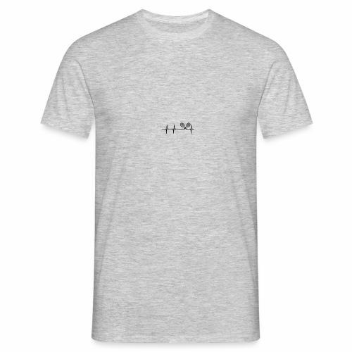 Herzschlag mit Tennisschläager - Männer T-Shirt