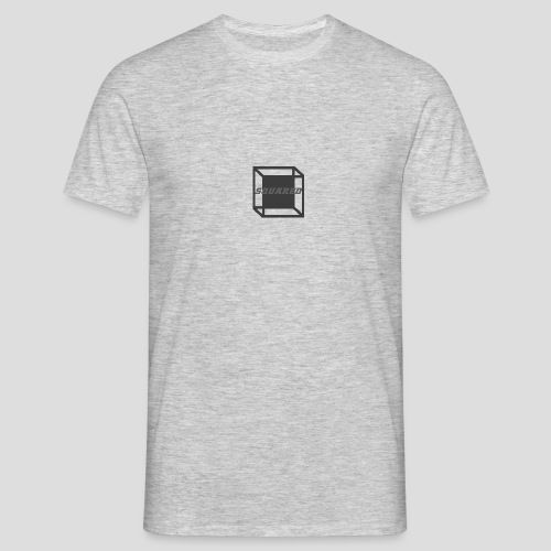 Squared Apparel Black / Gray Logo - Men's T-Shirt