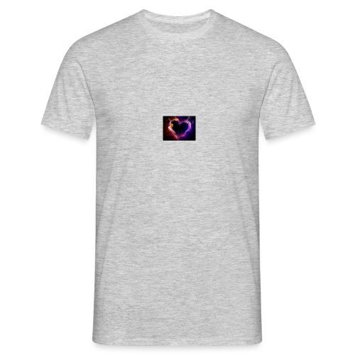 coeur de flamme - T-shirt Homme