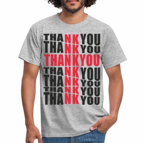 Motyw z napisem Thank You - Koszulka męska