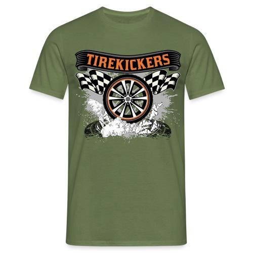 Tirekickers – Wheel ans Racing Flags - Männer T-Shirt