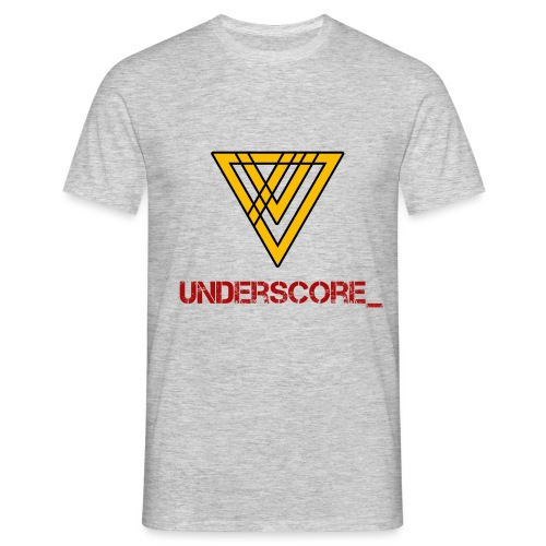 Underscore Yellow Red - Men's T-Shirt