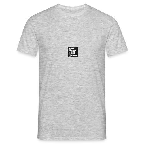 eat sleep bike repeat - T-shirt Homme