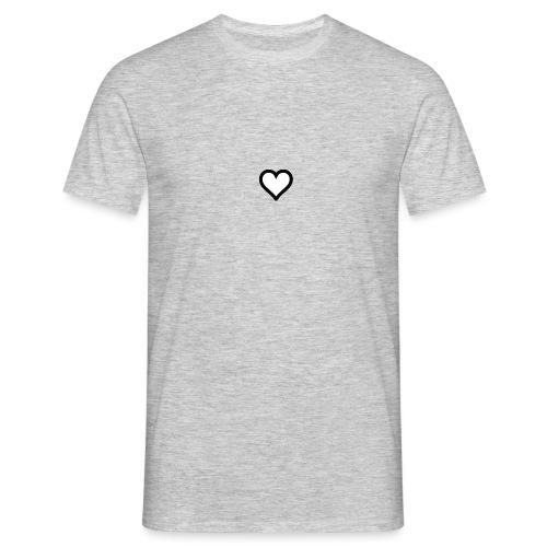 Hjerte - Herre-T-shirt