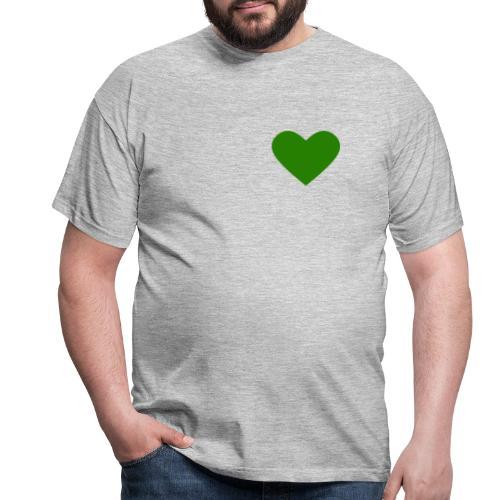 Grünes Herz / Grüne Liebe / Grüner Planet - Männer T-Shirt