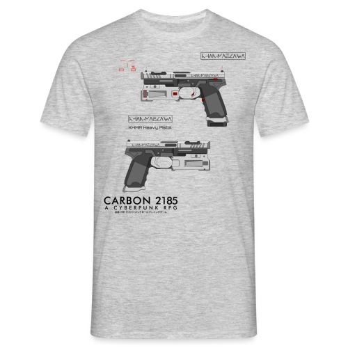 KHMA Heavy Pistol - Carbon 2185 - Men's T-Shirt
