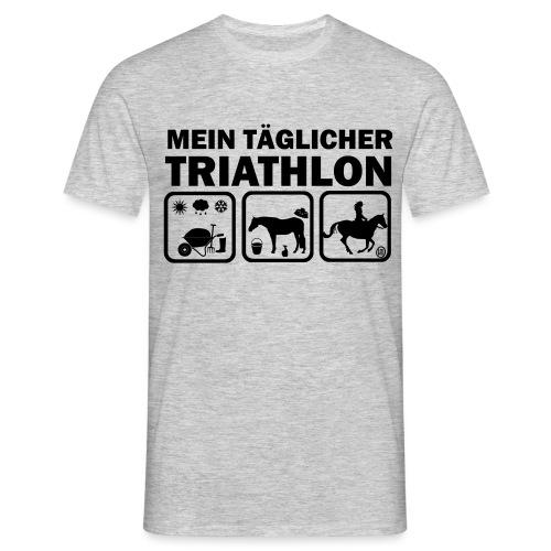 Mein täglicher Triathlon Pferd - Männer T-Shirt