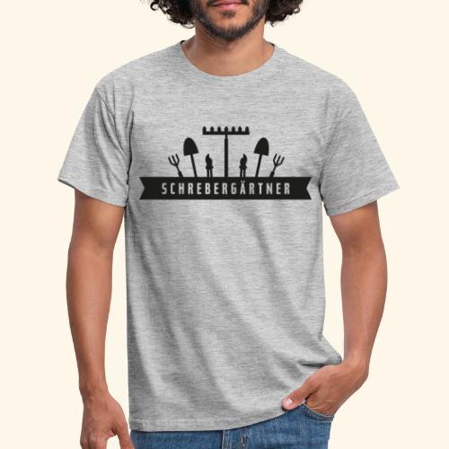 Schrebergärtner Werkzeug Titel Überschrift - Männer T-Shirt