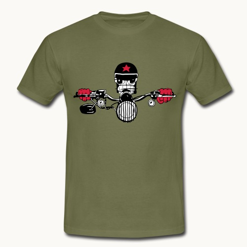 Motard Micky on the Road - T-shirt Homme
