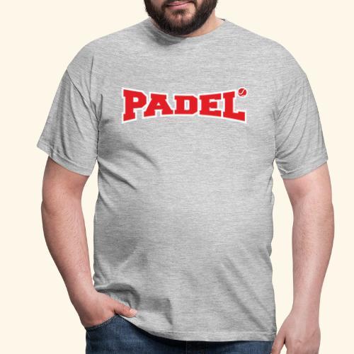 padel rojo y blanco - Camiseta hombre
