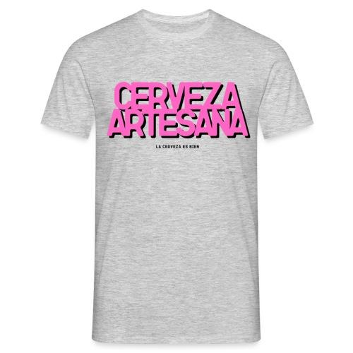 Cerveza Artesana Rosa y Negra - Camiseta hombre